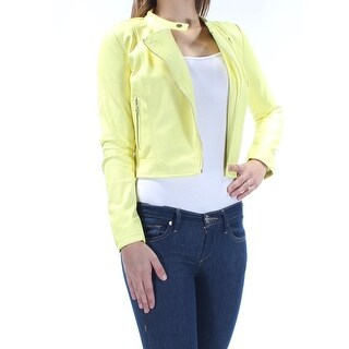Womens Yellow Wear To Work Motorcycle Jacket Size 2XS