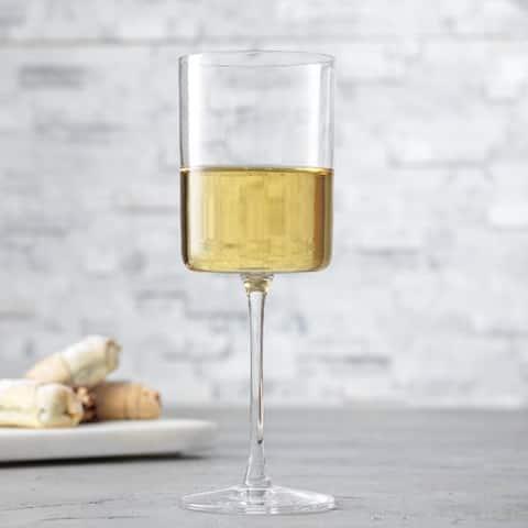 JoyJolt Claire European Crystal White Wine Glasses 11.4 oz, Set of 2