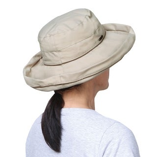 Stetson Unisex No Fly Zone Hat - Insect Repelling Pyrethin Wide Brim Tan Sun Hat