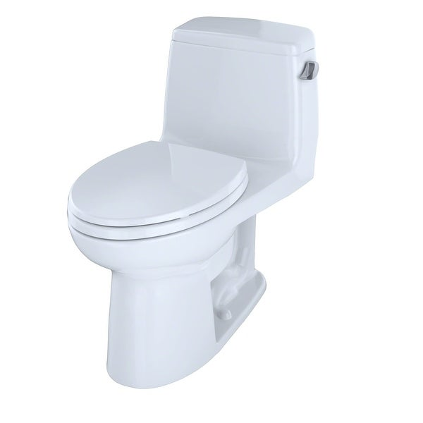 Toto MS854114ELR Ultramax One Piece Elongated 1.28 GPF Toilet with E-Max Flush System and Right-Hand Trip Lever - SoftClose