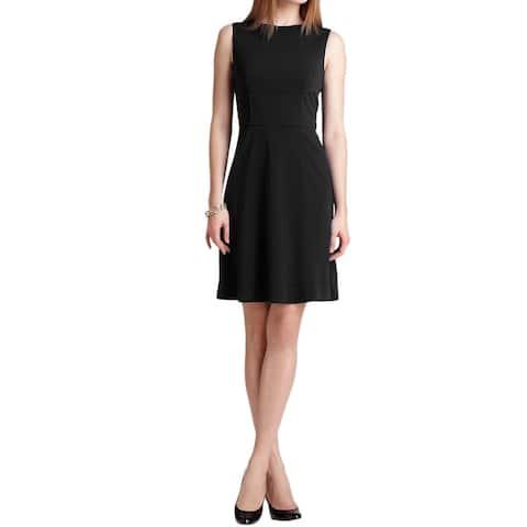 ELIE TAHARI Callie Solid Black Sleeveless Kneelength Sheath Dress 8