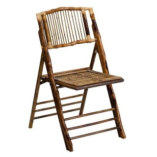 Offex American Champion Bamboo Folding Chair [OF-X-62111-BAM-GG]