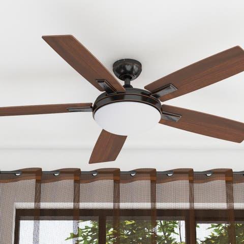 Copper Grove Garff 52-inch Espresso LED Ceiling Fan with Remote