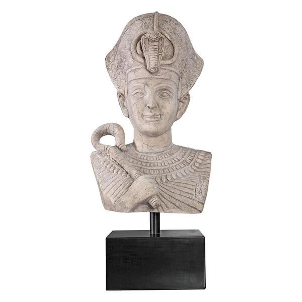 Design Toscano Egyptian Pharaoh Ramses Statue on Museum Mount