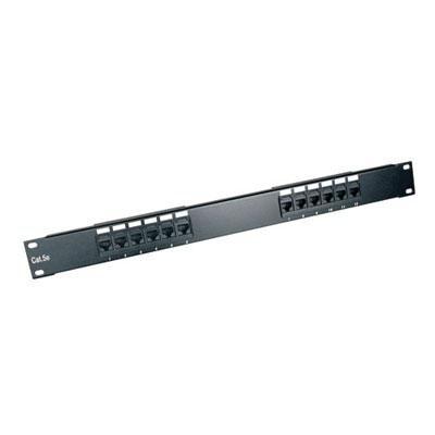 Tripp Lite 12-Port 1U Rackmount Cat6 110 Patch Panel 568B, Rj45 Ethernet(N252-012)