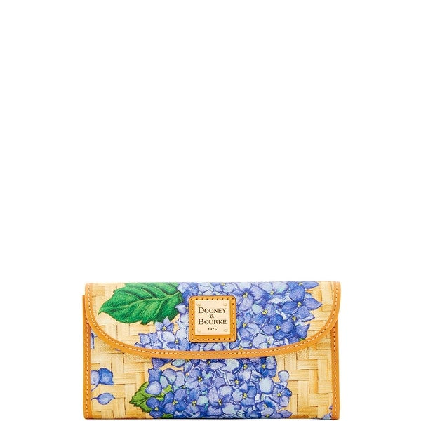 Dooney & Bourke Hydrangea Basketweave Continental Clutch (Introduced by Dooney & Bourke at $128 in Apr 2018)