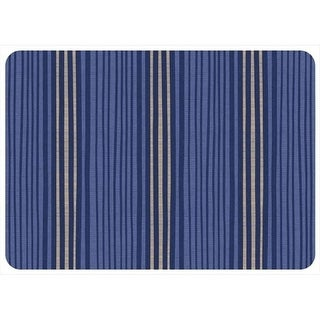 204911352231 Hand Painted Stripe in Blue - 1.83 ft. x 2.58 ft.