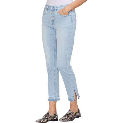 Vince Camuto Womens Button-Fly Cropped Jeans, Blue, 27W (US 4) - 27W (US 4)