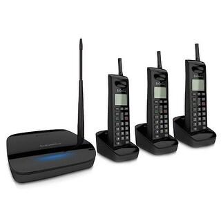 Engenius FreeStyl 2 (3 Handset) Extreme Range Scalable Cordless Phone System