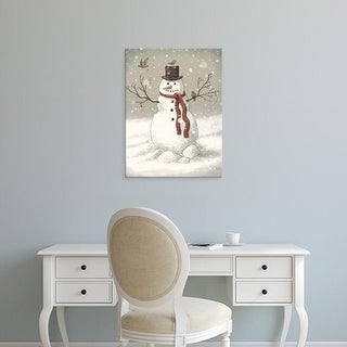 Easy Art Prints Terry Fan's 'Snowman' Premium Canvas Art