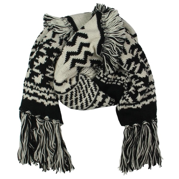 Womens Boho Patchwork Animal Print Black White Grey Pashmina Scarf Wrap New In