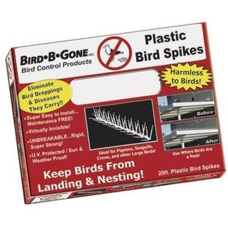 "Bird B Gone MM2000-5/20 Bird Spike, 5"", Clear"