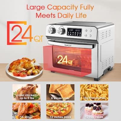 Air Fryer Toaster Oven, Geek Chef 24.5 Quart LCD Countertop - 16.1x15.2x13.8