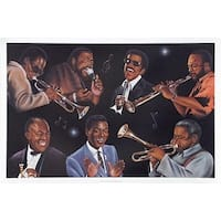 ''The Greatest of All - Rhythm & Jazz'' by Jerome Brown Music Art Print (24 x 36 in.)