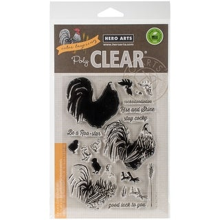 """Hero Arts Clear Stamps 4""""X6""""-Color Layering Rooster"""