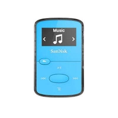 Sandisk Clip Jam Sdmx26-008G-G46b 8Gb Flash Mp3 Player, Blue