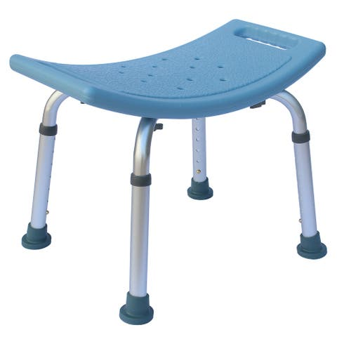 Heavy Type Adjustable Aluminum Alloy Old People Shower Chair Bath Chair Blue