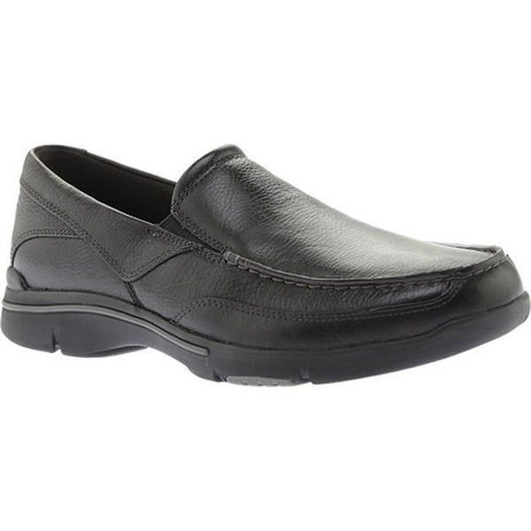 Rockport Men's City Play Eberdon Black Leather/Flint Leather