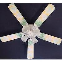 Light Green Disney Tinkerbelle Print Blades 52in Ceiling Fan Light Kit - Multi