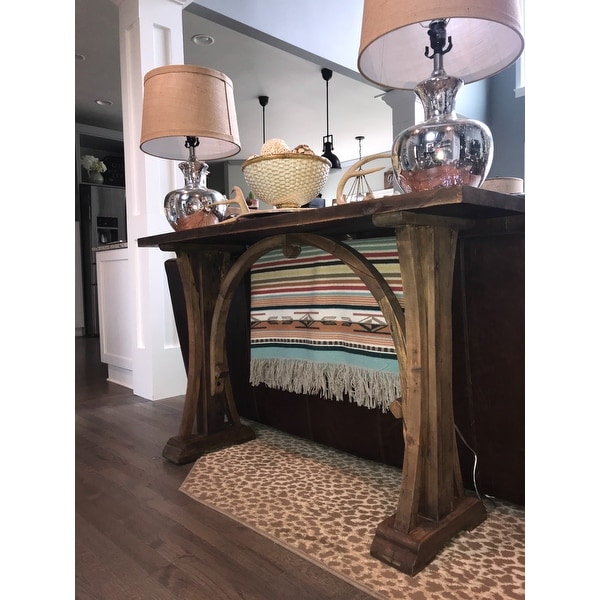 Shop Uttermost Genessis Reclaimed Wood Console Table   Free Shipping Today    Overstock.com   8595312