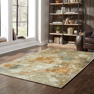 Link to Carson Carrington Albertslund Marble Gold/ Beige Area Rug Similar Items in Rugs