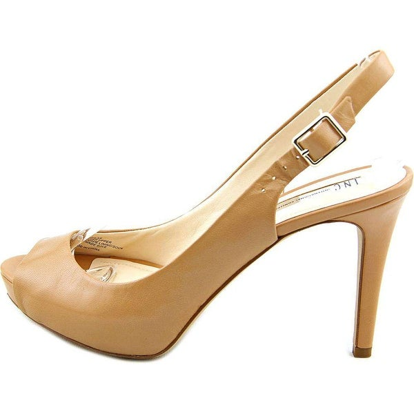 INC International Concepts Womens Gilastan Peep Toe SlingBack Classic Pumps - 7.5