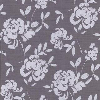 Brewster 295-66536 Madoka Purple Japanese Floral Wallpaper