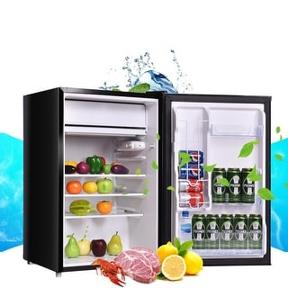 Costway 4.3 cu ft. Refrigerator Freezer Cooler Fridge Compact Mini Door