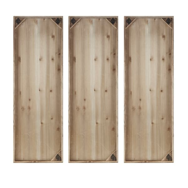 Madison Park Gabbie Natural Wood Wall Decor Set Of 3 On Sale Overstock 16071609