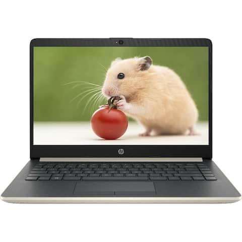 "Refurbished HP Notebook 14-dk0011ds AMD A4-9125 Dual-Core 4GB 64GB eMMC 14"" Pale Gold"