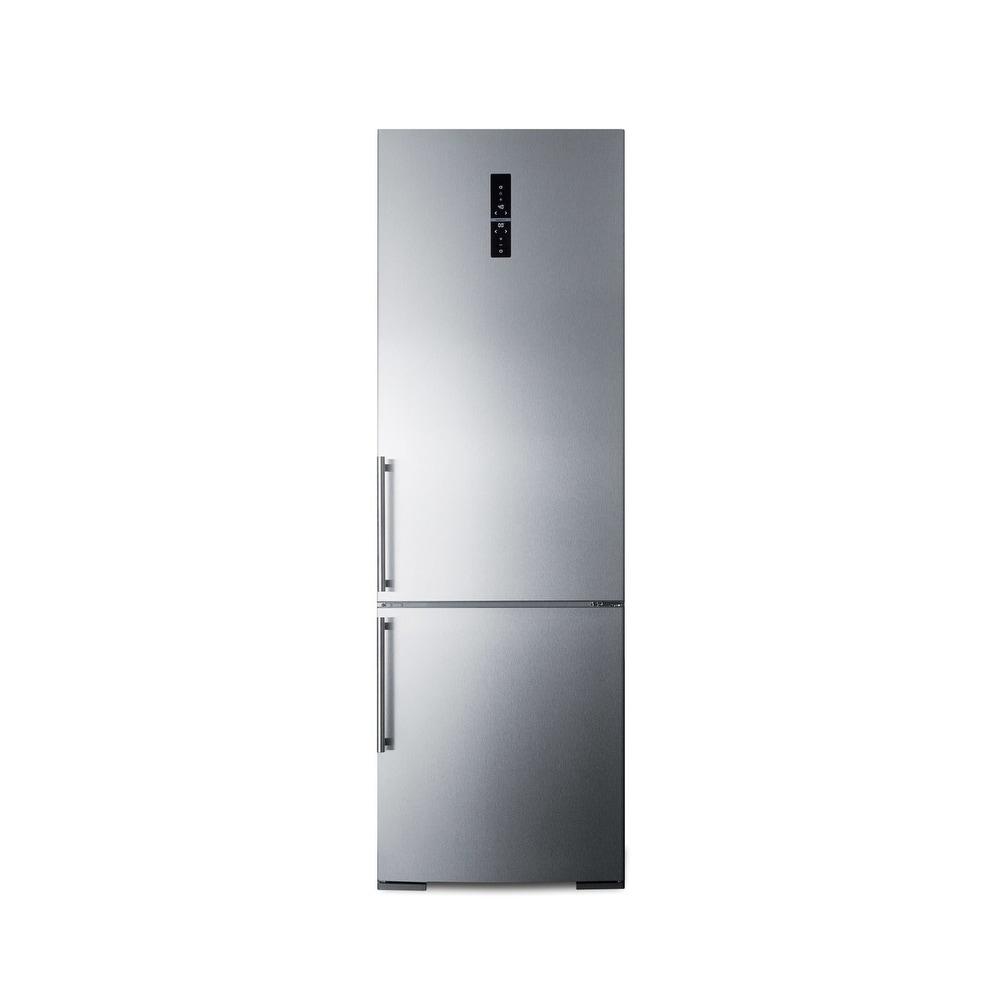 "Summit  FFBF249BI  24"" Wide 10.8 Cu. Ft. Bottom Mount Refrigerator - Stainless Steel (Stainless Steel)"