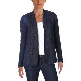 Elie Tahari Womens Danette Open-Front Blazer Textured Notch Lapel (2 options available)