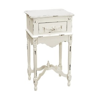 "Sterling Industries 89-1803 31.5"" Height Side Table - white milkpaint - n/a"
