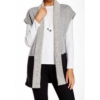 BNCI NEW Gray Colorblocked Women's Size Large L Cardigan Sweater