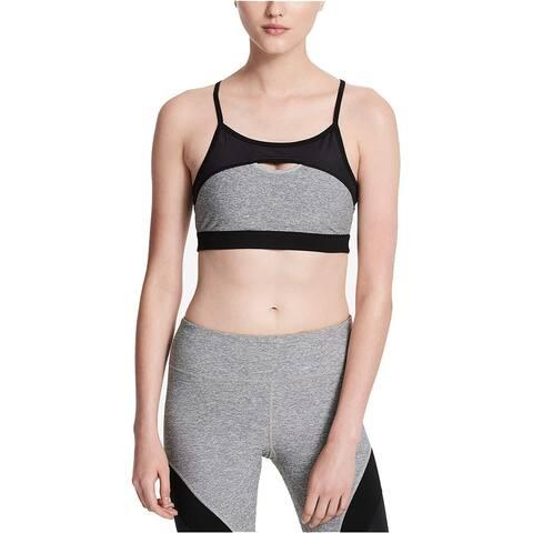 Calvin Klein Performance Women's Sports Bra, Grey (L) - Large