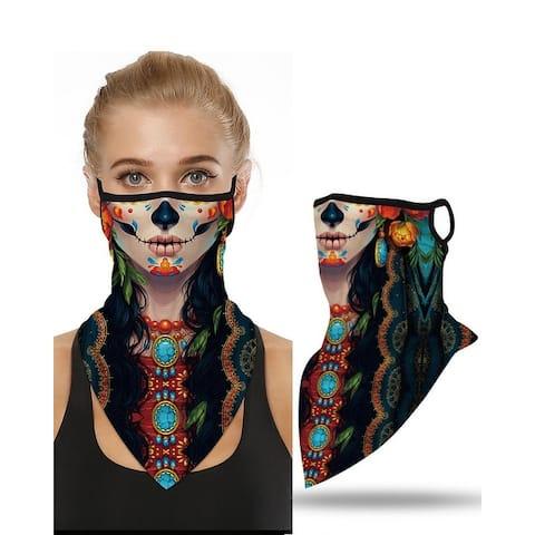 Unisex Face Bandana Masks Ear Loops Headwear Balaclava Neck Gaiters for Dust Protection