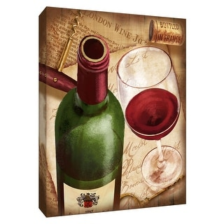 "PTM Images 9-148459  PTM Canvas Collection 10"" x 8"" - ""Merlot Wine"" Giclee Wine Art Print on Canvas"