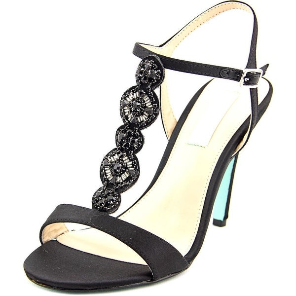 Betsey Johnson Chloe Women Open Toe Canvas Black Sandals
