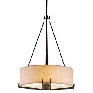 "Forecast Lighting F51049 4 Light 21.5"" Wide Pendant from the Urban Oasis Collection - bronze luster"