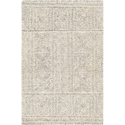 Samira Handmade Wool Moroccan Trellis Area Rug