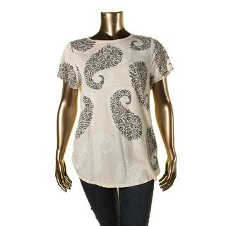 Lucky Brand Womens Short Sleeves Printed T-Shirt