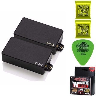 EMG Zakk Wylde Humbucker Pickup Set with Strings. Pics and Wonder Wipes Cleaner