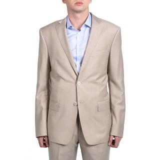 Versace Collection Men's Pindot Two-piece Wool Suit Light Khaki