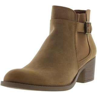 Qupid Womens Philly Faux Suede Buckle Booties