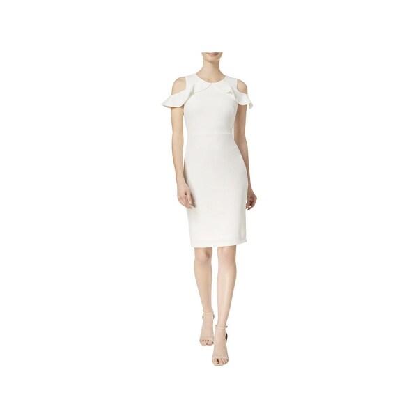 8853c0af93a Shop Calvin Klein Womens Party Dress Cold Shoulder Knee Length ...