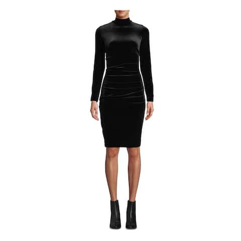 NICOLE MILLER Black Long Sleeve Above The Knee Dress 4