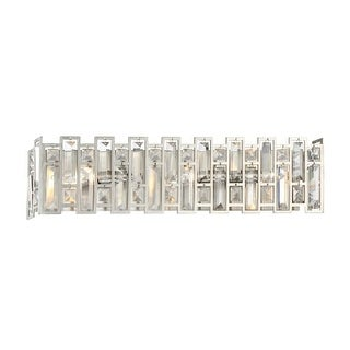 """Designers Fountain 88203-SP West 65th 3 Light 23"""" Wide ADA Compliant Wall Sconce with Faceted Glass Elements"""