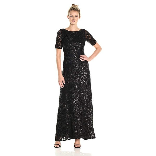 95e73015e6c5a3 Shop Adrianna Papell Women's Dress Stretch Sequin Tulle Gown - Free  Shipping Today - Overstock - 24121096