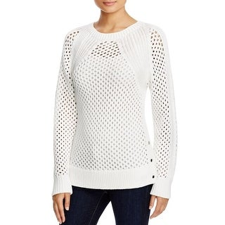 MICHAEL Michael Kors Womens Pullover Sweater Open Stitch Long Sleeves