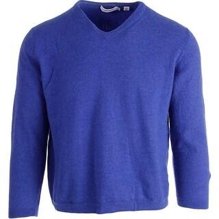 Calvin Klein Mens Merino Wool Long Sleeves Pullover Sweater - M